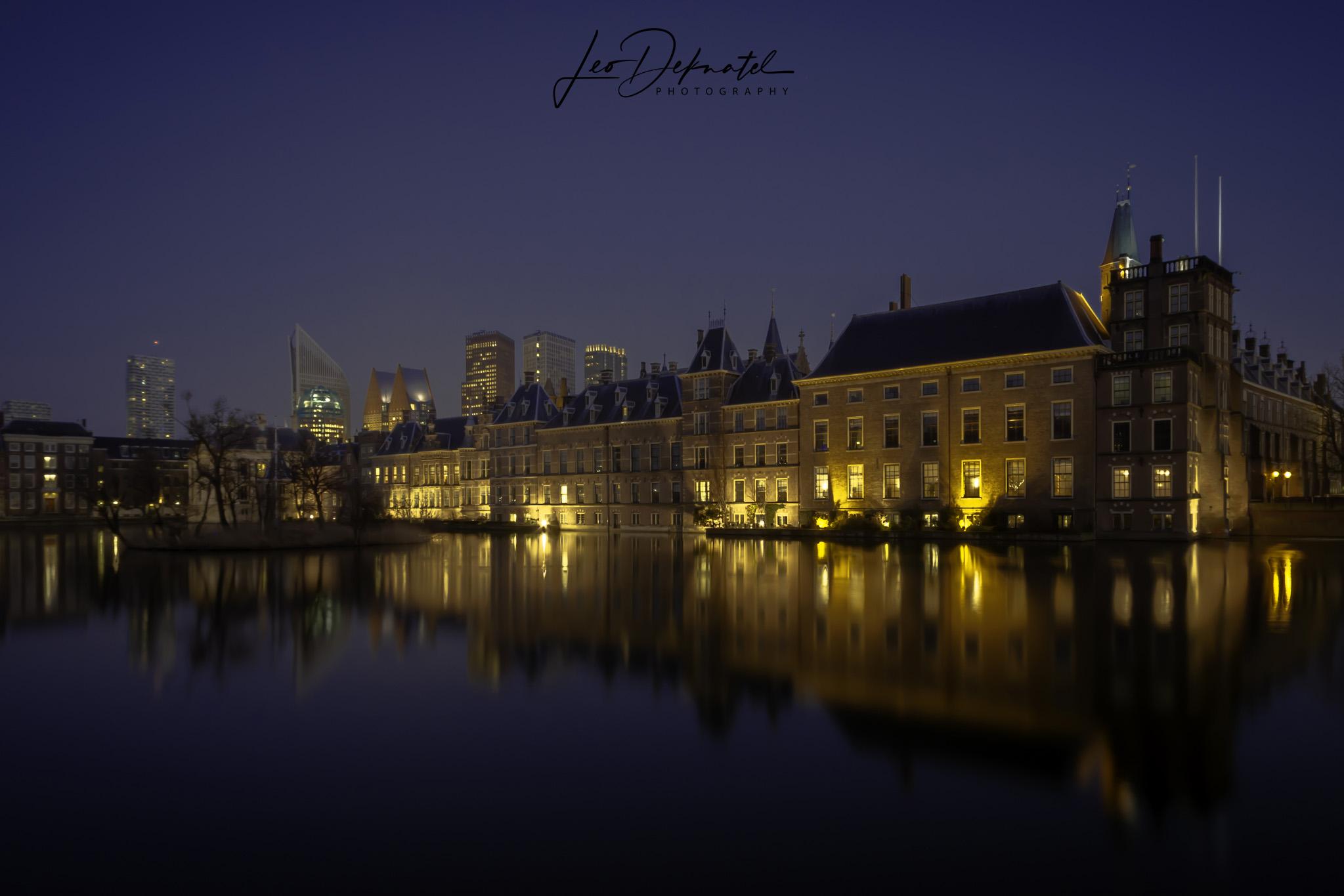 Hofvijver Den Haag, Best off 2018, Avond- nachtfotografie, lange sluitertijden