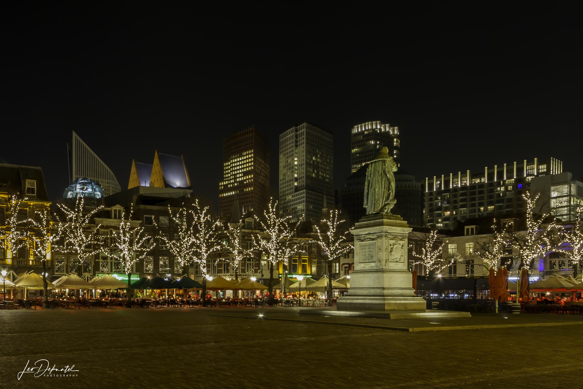 Het plein in Den Haag, Best off 2018, Avond- nachtfotografie, lange sluitertijden